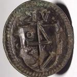 Beim Siegel aus Rathenow verschmelzen die Initialen VK mit der Hausmarke