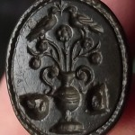 neuzeitliches Petschaft mit entfernten Initialen, um 1800