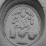 neuzeitliches Petschaft mit entfernten Initialen, um 1800, Abdruck