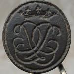 neuzeitliches Petschaft mit gekrönten Initialen, ca. 18.Jh.