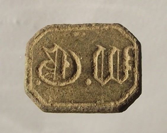 Petschaft 19.Jh. , Initialen in Frakturschrift