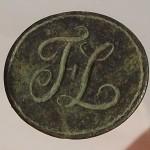 neuzeitliches Petschaft mit Initialen um 1700/1750. gespiegelt