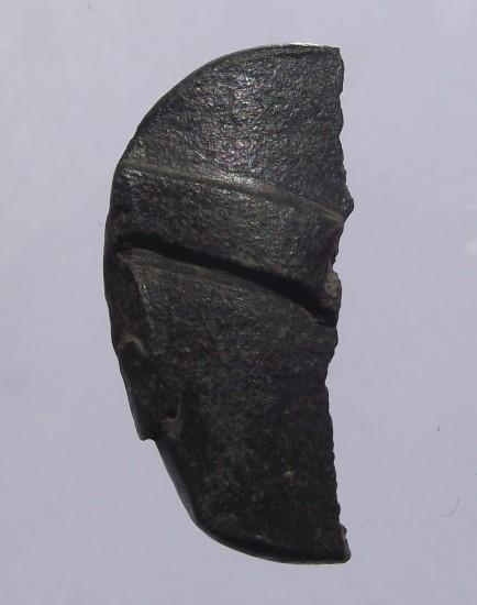 stark deformierter und zerbrochener Siegelstempel um 1400