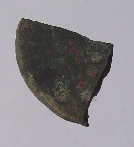 Fragment eines mittelalterlichen Siegelstempels mit gotischen Majuskeln, Süddeutschland