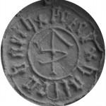 Petschaft mit zentraler Hausmarke, 15.Jh., Abdruck