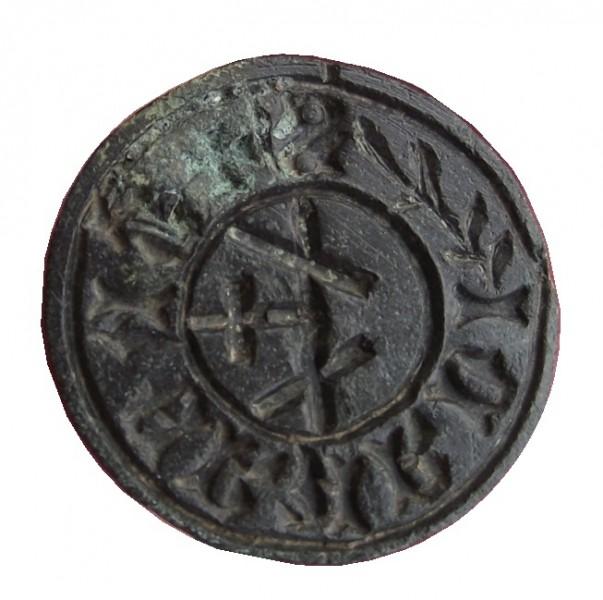 mittelalterliches Petschaft mit Hausmarke etwa 15.Jh.