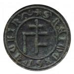 mittelalterliche Petschaft mit Hausmarke vor 1450, gespiegelt