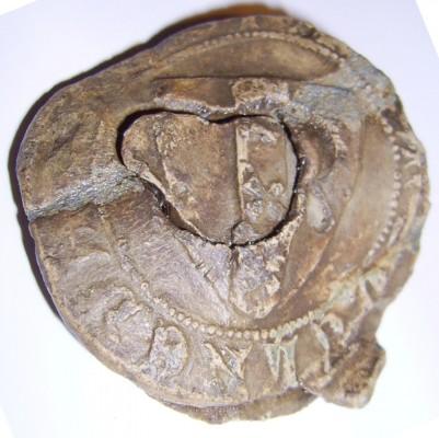 Blei-Plombe mit dem Wappen von Amsterdam um 1500