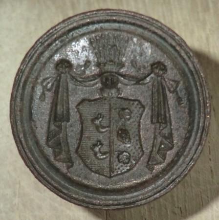 Petschaft ohne Handhabe, Wappen der Familie von Maltzahn, ca. 1800/1850, gespiegelt