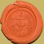 unbestimmtes Petschaft mit Anker-Darstellung, Mittelalter