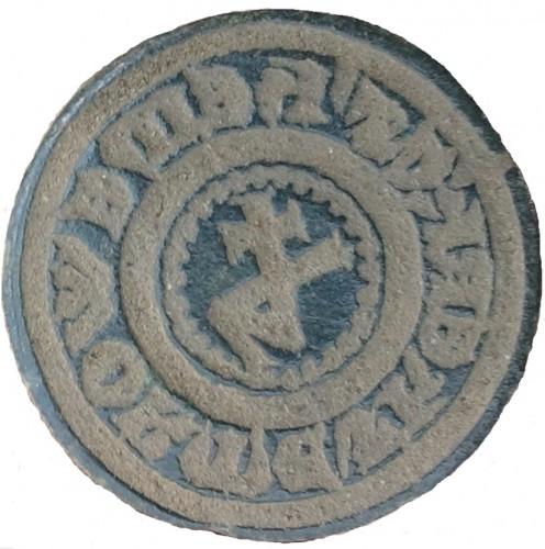 mittelalterliches Petschaft mit Hausmarke um 1400 im Fundzustand