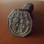 Petschaft mit Figur (Mönch?) im Wappen um 1600