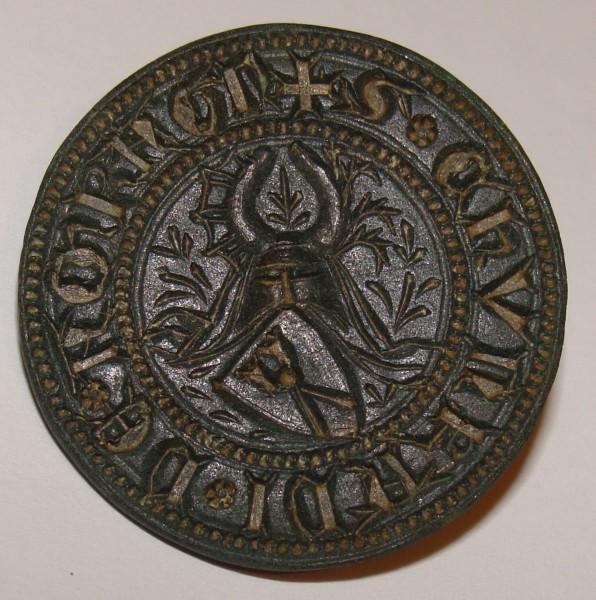 mittelalterliches Adelssiegel aus Bayern von herausragender Qualität, gespiegelt