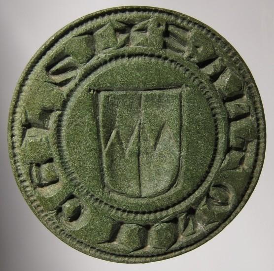 mittelalterliches Petschaft aus Oberbayern, gespiegelt