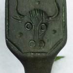 gut erhaltener neuzeitlicher Siegelring eines Metzgers