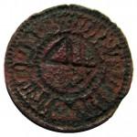 mittelalterliches Petschaft mit Hausmarke um 1400, Danzig, Handhabe alt abgebrochen