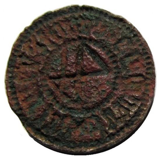 mittelalterliches Petschaft mit Hausmarke um 1400, Danzig, Handhabe alt abgebrochen, gespiegelt
