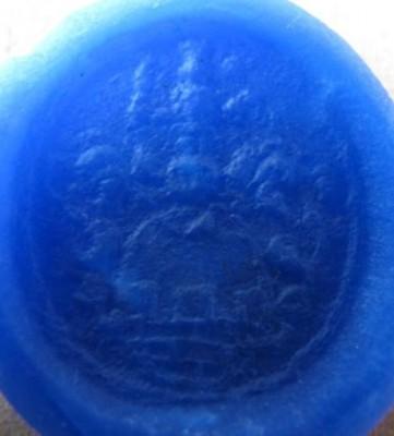 neuzeitliches Petschaft mit ovalem Wappen ( Mauer mit Zinnen)