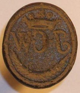 neuzeitliches Petschaft, gekrönte Initialen, um 1800