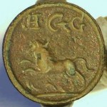 neuzeitlicher Siegelring um 1800 (gespiegelt)