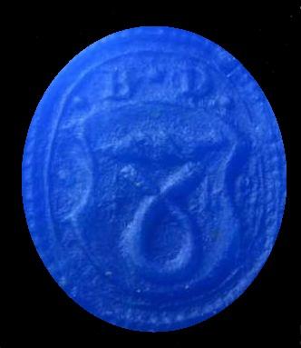 Petschaft mit Initialen und tartschenförmigem Wappen, etwa 16.Jh.
