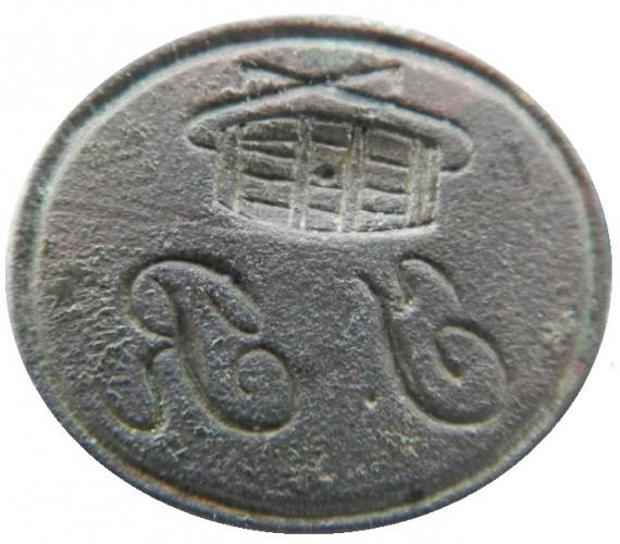 neuzeitliches Petschaft mit Initialen und Symbolik, die auf den Transport von Fässern hindeutet, wohl 19.Jh.