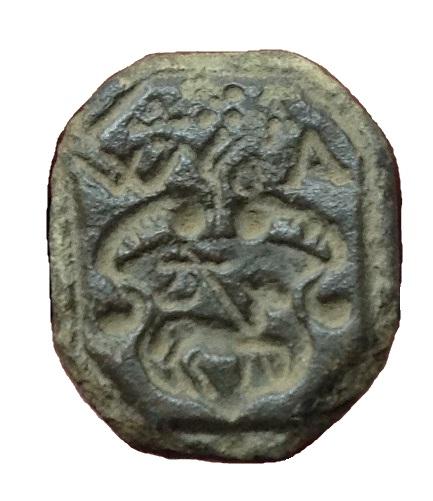 Siegelstempel mit Agnus Dei und Initialen,vermutlich etwa 16./17.Jh.