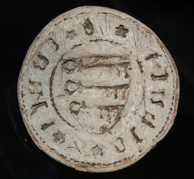 spätmittelalterliches Blei-Petschaft aus Süddeutschland, ca. 15.Jh.