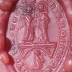 spitzovales Siegel in herausragender Erhaltung mit religiösen Motiv, Abdruck