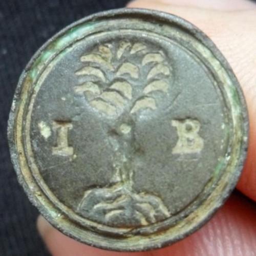 neuzeitlicher Siegelstempel , ca. 17. Jh., gespiegelt