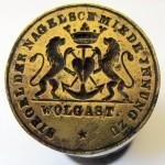Siegel der Nagelschmiede Innung zu Wolgast 1853