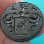 neuzeitliches Petschaft mit Löwen im Wappen