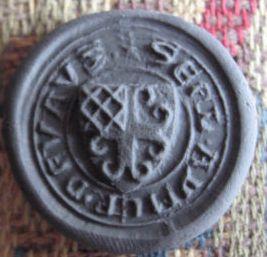 Abdruck, Petschaft mit Wappen, um 1450