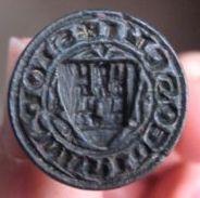 Petschaft mit Wappen mit Burg, um 1450