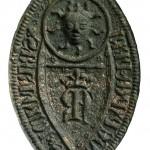 außergewöhnliches Siegel des Klerikers Bartold Swartepapen , 14.Jh.