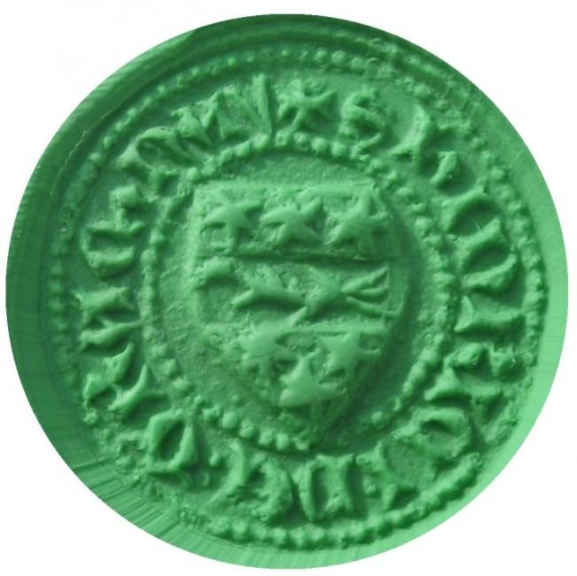 mittelalterliches deutsches Wappensiegel, bisher unbestimmt, um 1400, S' HINRICI DE ...