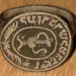Siegelring mit Segenszeichen und hebräischer Umschrift, um 1800