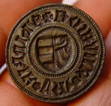 Abdruck, Petschaft mit Wappen wie es im Holsteinischen vorkommt,ca. 15.Jh.