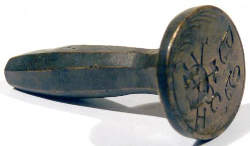 Petschaft eines Hufschmiedes mit Initialen, ca. 19.Jh.