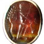 neuzeitliches Petschaft aus Silber mit Glasgemme, wohl um 1800