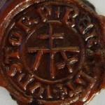 Abdruck Petschaft des Bertolt Wastorp, vor 1450