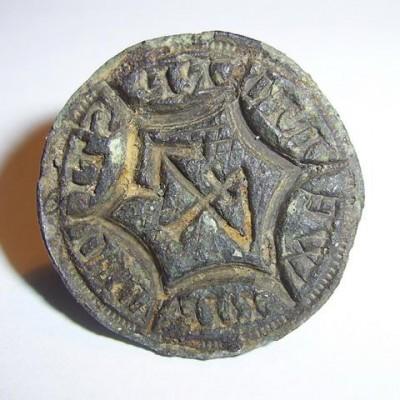 Petschaft des Tidemani Wentorp, Handhabe abgebrochen, um 1350