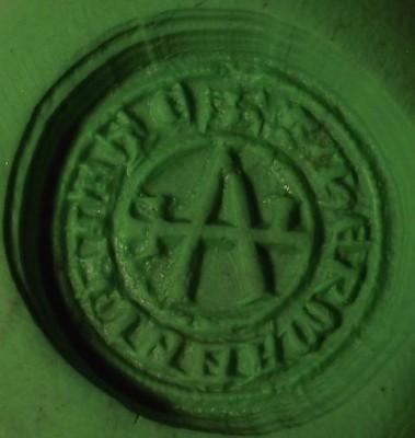 Abdruck Petschaft des Hermanni Witte vor 1450