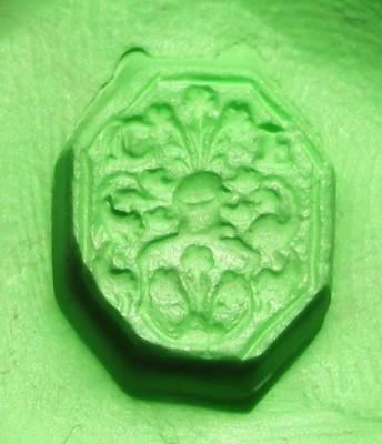 Petschaft mit 8eckiger Siegelfläche und floralem Motiv ca.17.Jh.