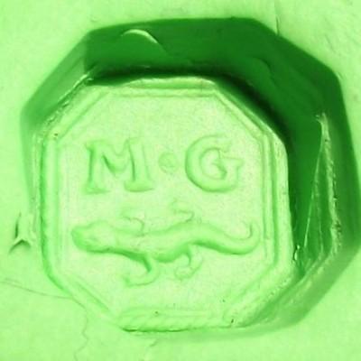 Petschaft mit 8eckiger Siegelfläche, Initialen und Salamander, ca. 18./19.Jh.