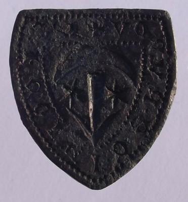 großes Rittersiegel S' NICOLAI DE RVNOV (Nicolaus von Runow)13./14.Jh.