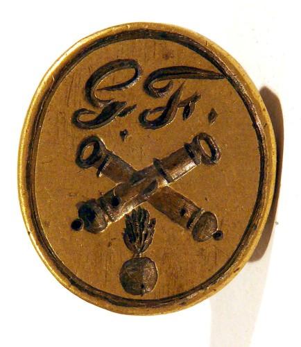 Petschaft eines Kanoniers / Artilleristen, Anfang 19. Jh., gespiegelt