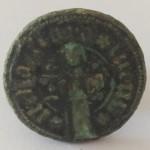 bisher unbestimmtes Petschaft, Mittelalter, vermutlich um 1400, gespiegelt