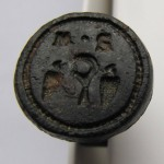 neuzeitliches Petschaft eines Bauern/Winzers mit Initialen, um 1800 (gespiegelt)