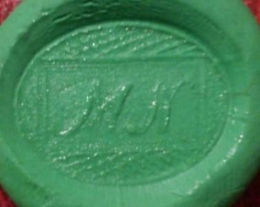 neuzeitliches Petschaft mit Initialen um 1900